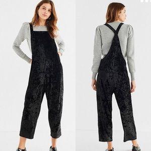 Urban Outfitters Black Velvet Overalls